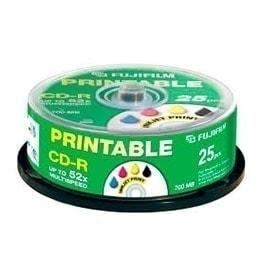 swiss pro cd r 700 mb 52x printable inkjet lata 25 u. fuji