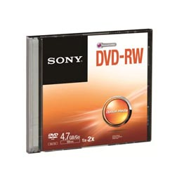 swiss pro dvd rw 4.7 gb 1x 2x slim case sony