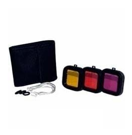 swiss pro filtro subacuatico action outdoor pack 3 u polar pro rojo magenta y amarillo