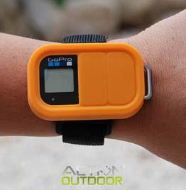 swiss pro funda action outdoor silicona para mando tipo gopro naranja