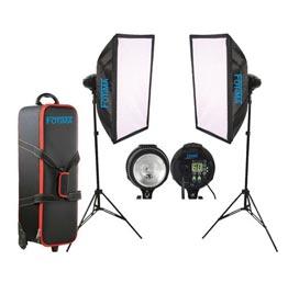 swiss pro iluminacion fotima kit flash estudio 2x400w ftf 400