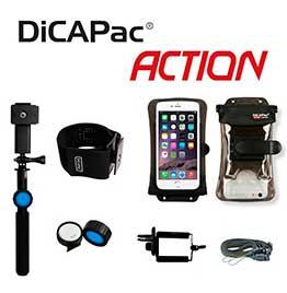swiss pro kit accion dicapac monopie selfie acuatico brazalete funda acuatica 57 dpsa c2