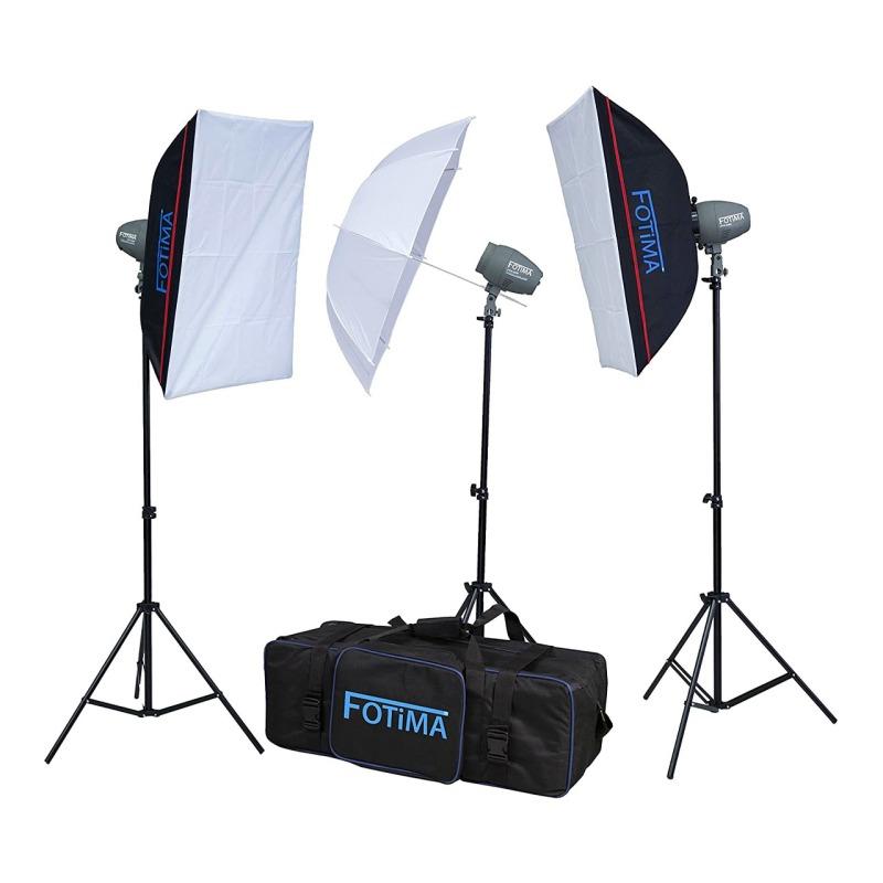 swisspro iluminacion fotima kit flash estudio 3x200w ftf 200 0007 8494022200128