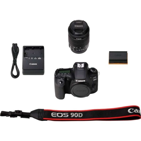 swiss pro ccamara reflex canon eos 90d ef s 18 55mm f4 5 6 is stm 6
