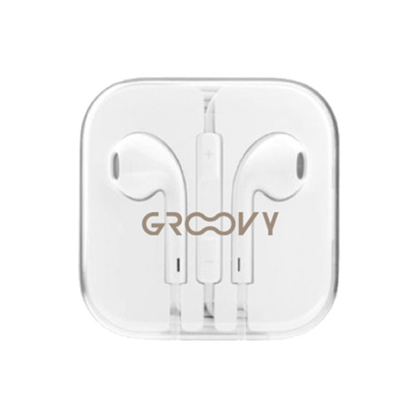 swisspro auricular groovy earbuds cable control volumen microfono blanco pack 5 u
