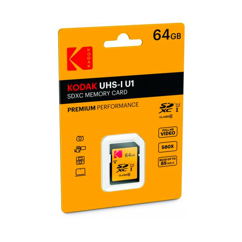 swisspro tarjeta memoria sdxc 64gb kodak 85 mb s c10 uhs i u1