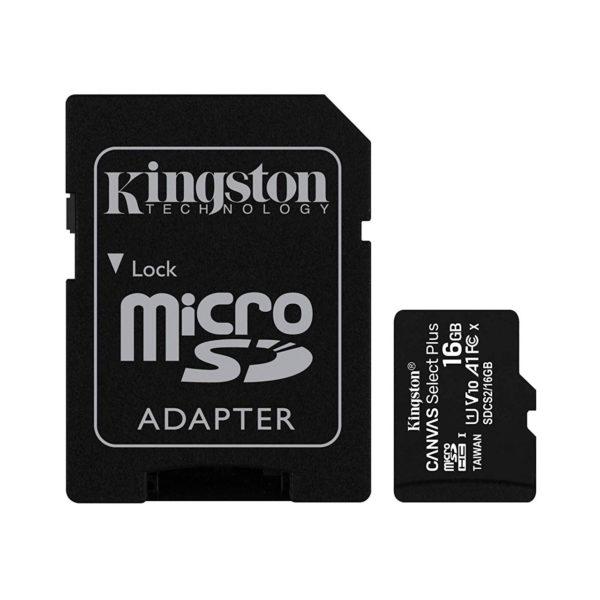 swisspro tarjeta memoria sdhc micro kingston canvas select plus 100 mb s c10 uhs i u1 0003 SDCS2 16GB