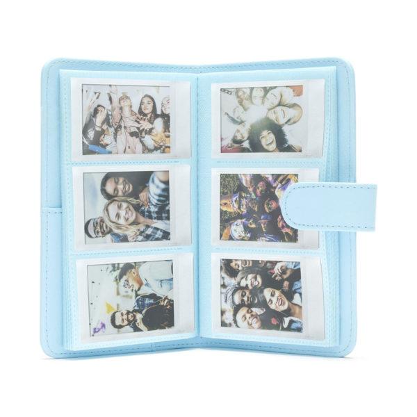 swisspro album slip in fuji para instax mini 11 108 fotos sky blue 0000 70100146238
