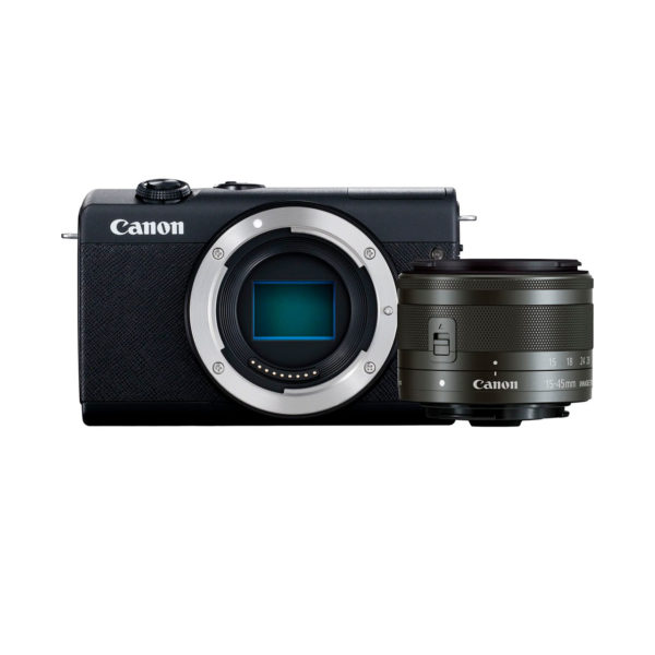 swisspro camara evil canon eos m200 ef m 15 45mm is stm negra 0009 3699C010