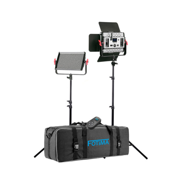 swisspro iluminacion fotima kit led estudio profesional ftl 600 pro 40w 6000lm