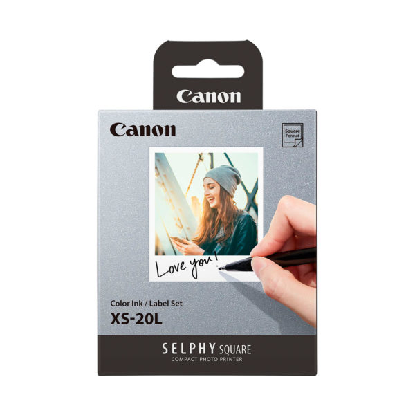 swisspro pack papel y tinta canon xs 20l para selphy square