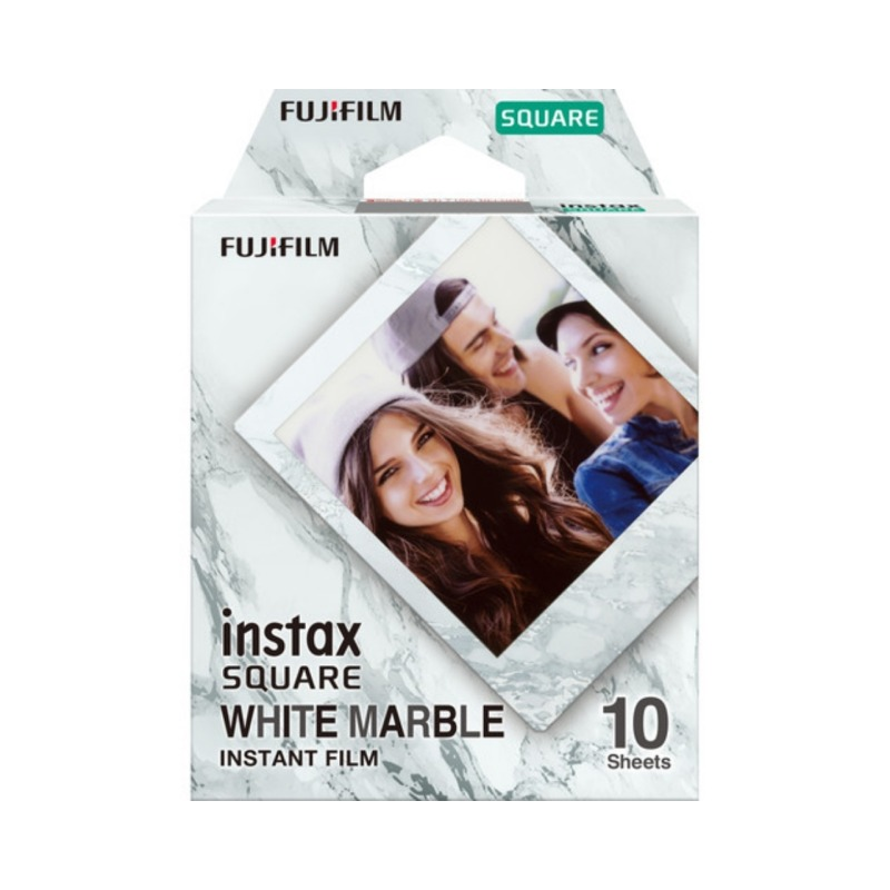 swisspro pelicula instant fuji instax square whitemarble ww 1 1x10 fotos 1