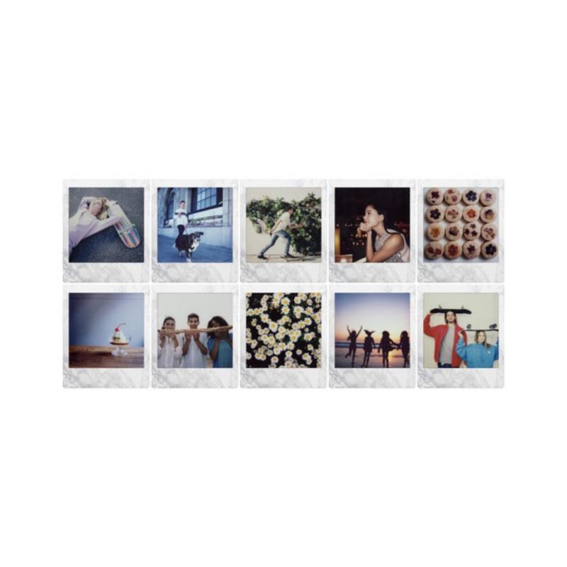 swisspro pelicula instant fuji instax square whitemarble ww 1 1x10 fotos 2