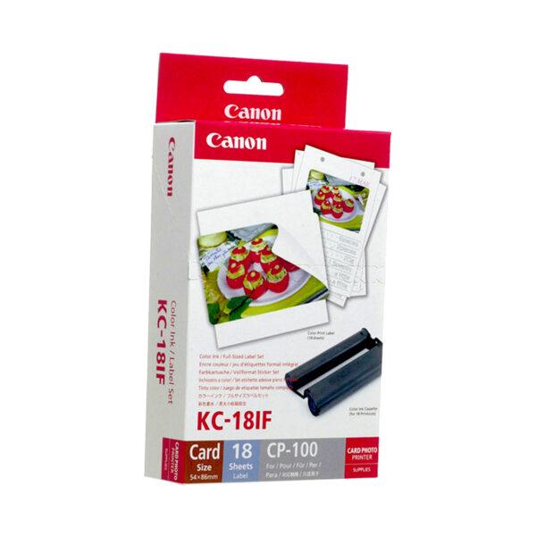 swisspro consumible cp canon kc 18if etiquetas tamano tarjeta credito 18 hojas