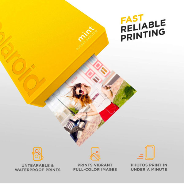 swisspro impresora polaroid mint mobile amarilla incluye papel pack 10 fotos 0001 840102198676