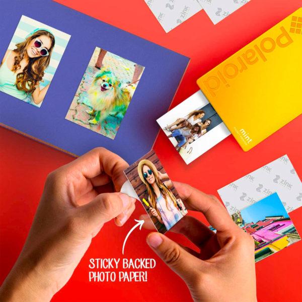 swisspro impresora polaroid mint mobile amarilla incluye papel pack 10 fotos 0004 840102198676