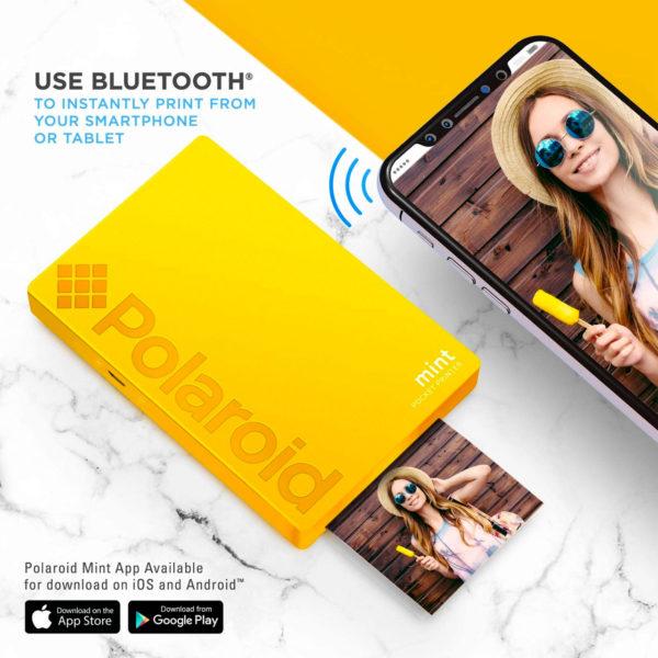 swisspro impresora polaroid mint mobile amarilla incluye papel pack 10 fotos 0005 840102198676