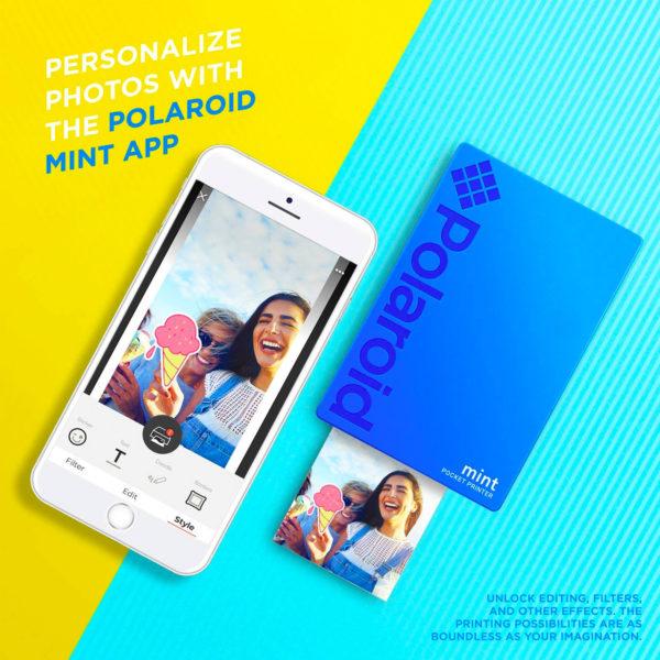 swisspro impresora polaroid mint mobile azul incluye papel pack 10 fotos 0001 840102198669