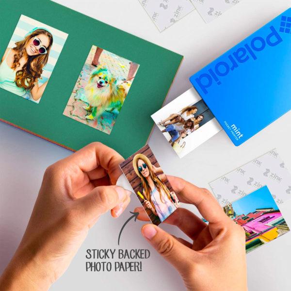 swisspro impresora polaroid mint mobile azul incluye papel pack 10 fotos 0003 840102198669