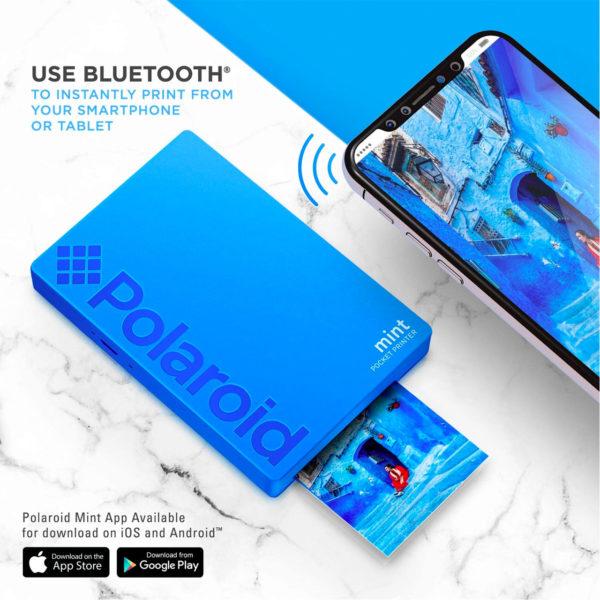 swisspro impresora polaroid mint mobile azul incluye papel pack 10 fotos 0004 840102198669