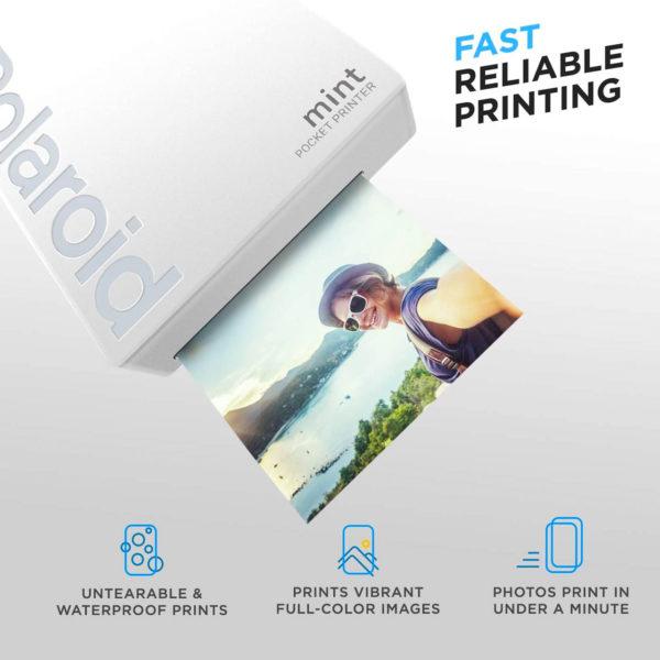 swisspro impresora polaroid mint mobile blanca incluye papel pack 10 fotos 0001 840102198645