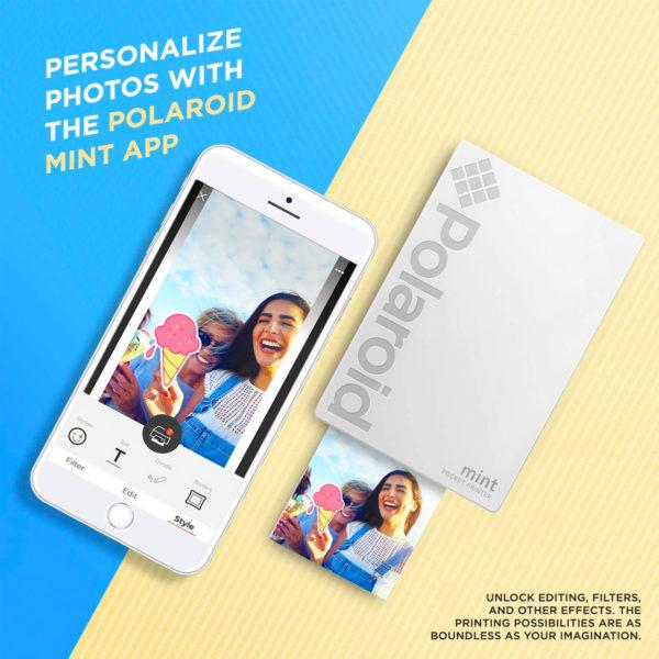 swisspro impresora polaroid mint mobile blanca incluye papel pack 10 fotos 0002 840102198645