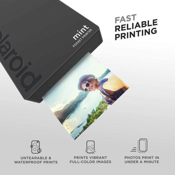 swisspro impresora polaroid mint mobile negra incluye papel pack 10 fotos 0001 840102198652