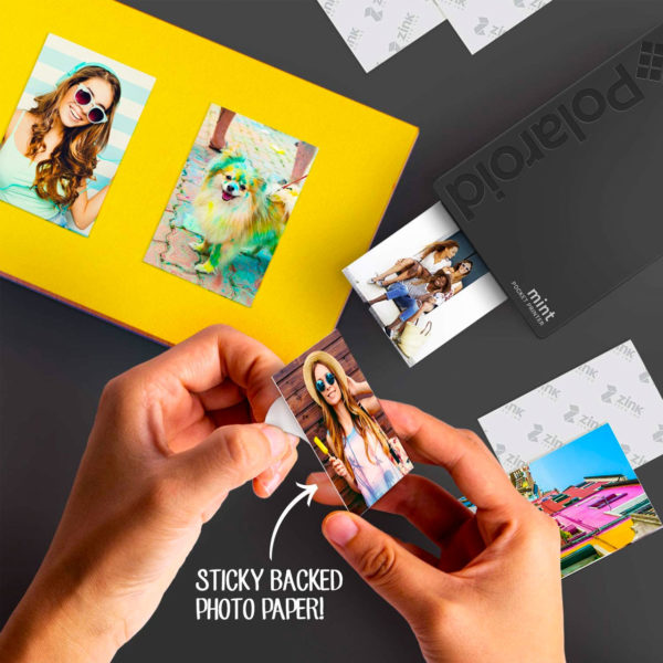 swisspro impresora polaroid mint mobile negra incluye papel pack 10 fotos 0004 840102198652