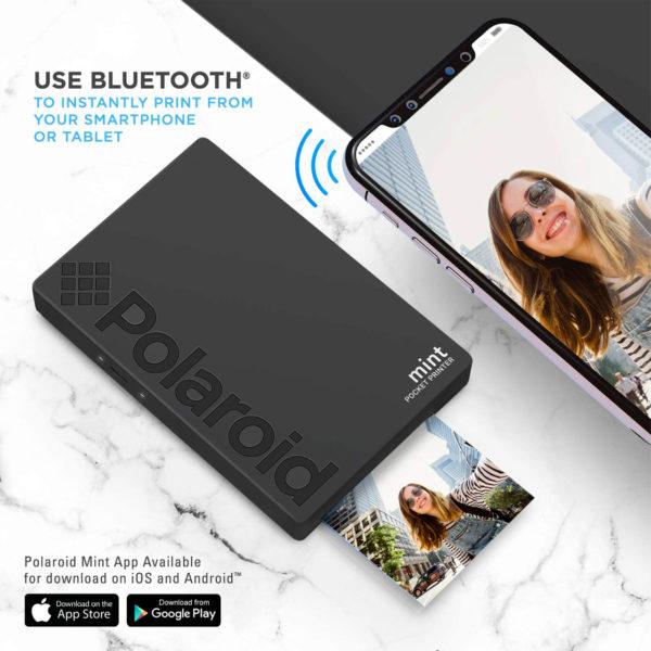 swisspro impresora polaroid mint mobile negra incluye papel pack 10 fotos 0005 840102198652