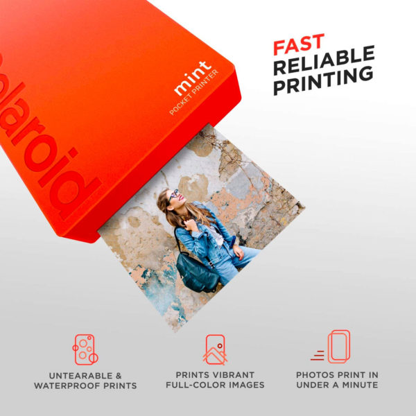 swisspro impresora polaroid mint mobile roja incluye papel pack 10 fotos 0000 840102198683