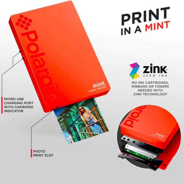 swisspro impresora polaroid mint mobile roja incluye papel pack 10 fotos 0002 840102198683
