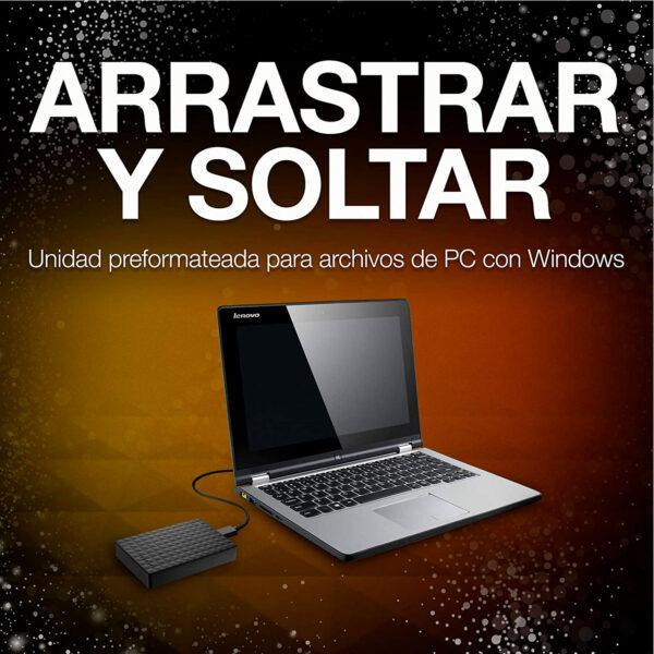 swisspro disco duro seagate expansion portable 2tb usb 3 0 25 pulg negro 0000 STEA4000400
