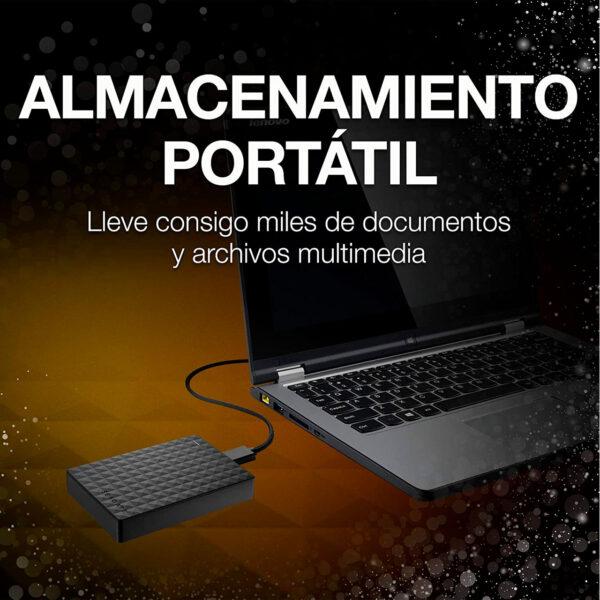 swisspro disco duro seagate expansion portable 2tb usb 3 0 25 pulg negro 0002 STEA4000400