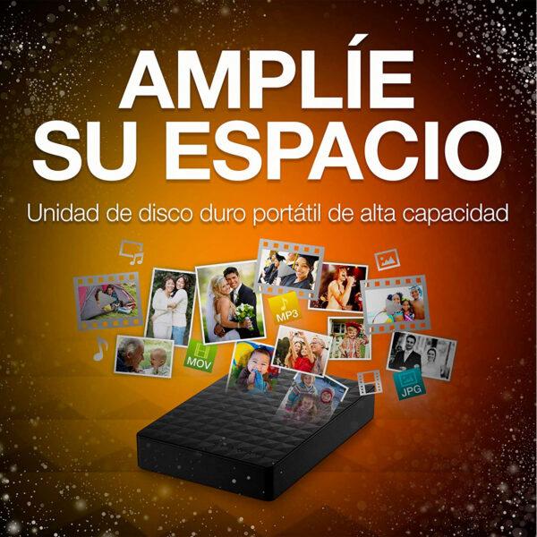 swisspro disco duro seagate expansion portable 2tb usb 3 0 25 pulg negro 0003 STEA4000400