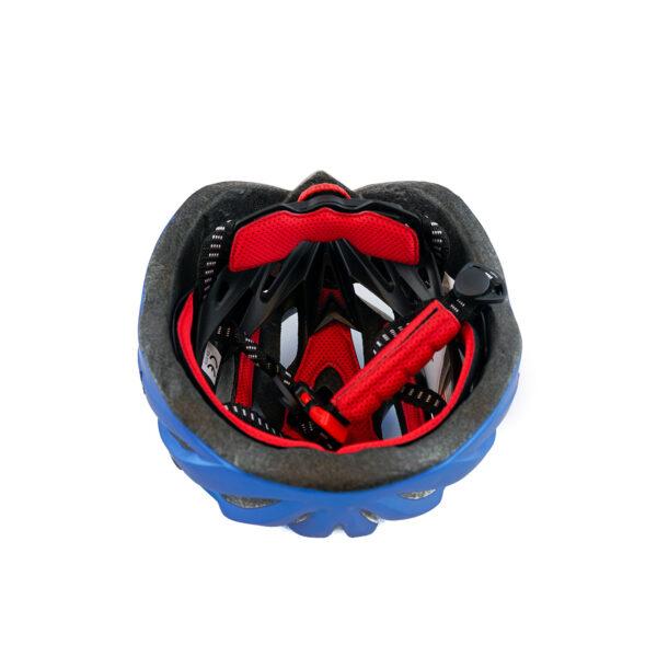 swisspro casco con luz de seguridad azul 0015 SWI600218