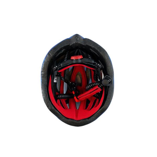 swisspro casco con luz de seguridad azul 0016 SWI600218
