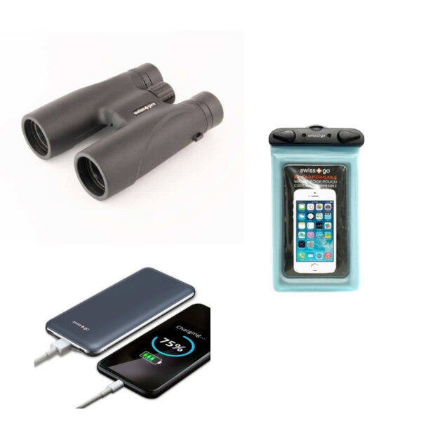 kit prismaticos funda movil powerbank