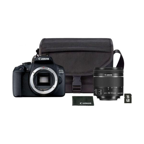 swisspro camara reflex canon eos 2000d objetivo 18 55mm is ii kit funda sd 16gb 0000 2728C013