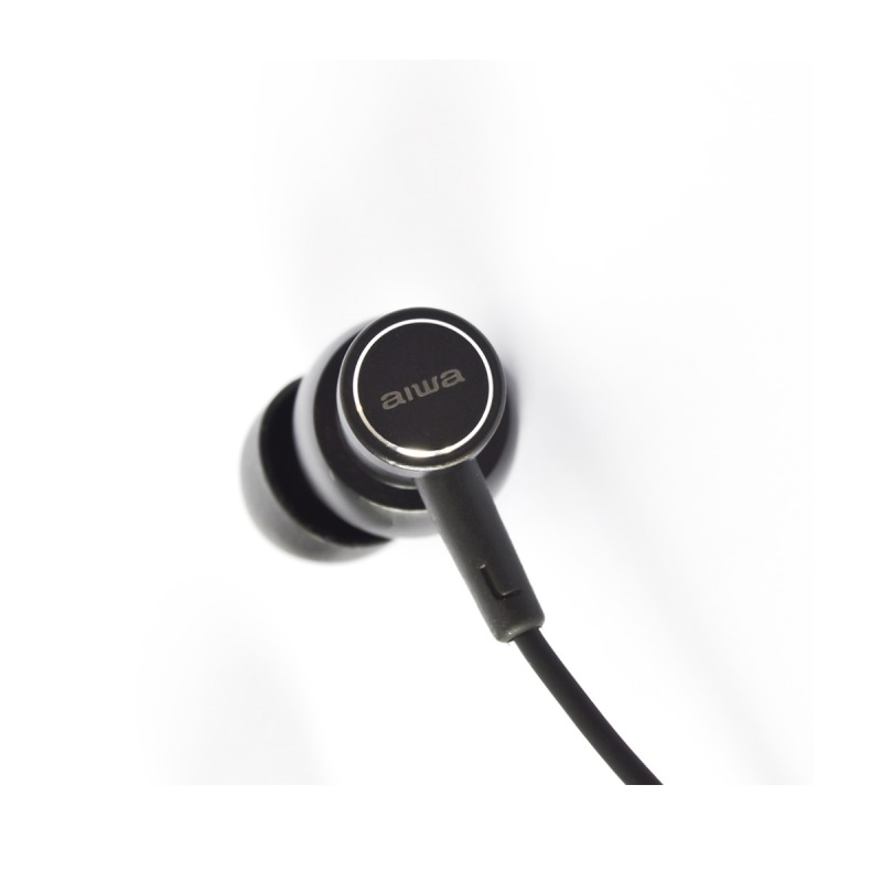 swisspro auricular aiwa estm 500bk negro 10hz 40khz cable 12 mts microfono 3