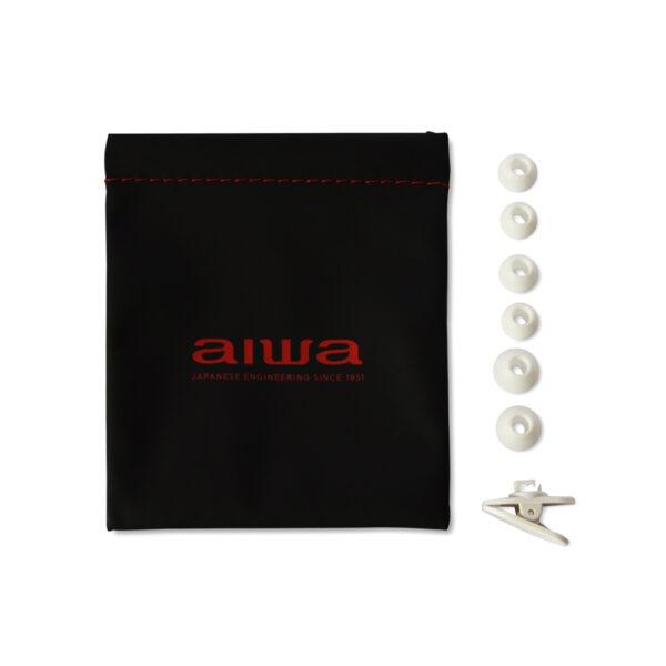 swisspro auricular aiwa estm 500wt blanco 10hz 40khz cable 12 mts microfono 3