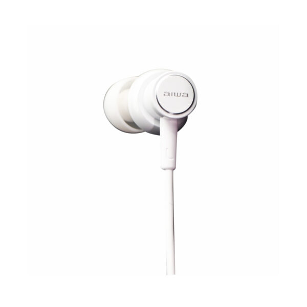 swisspro auricular aiwa estm 500wt blanco 10hz 40khz cable 12 mts microfono 4
