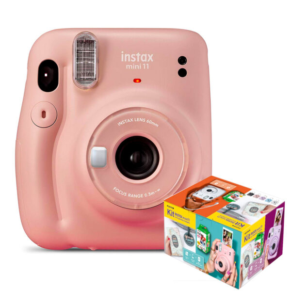 swisspro camara instantanea fuji instax mini 11 blush pink kit wonderful