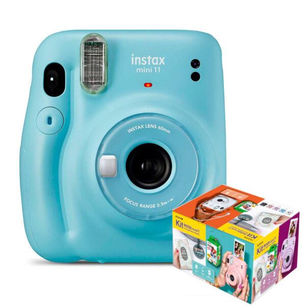 swisspro camara instantanea fuji instax mini 11 sky blue kit wonderful