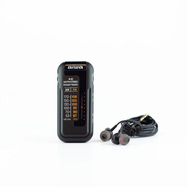 swisspro radio de bolsillo aiwa r 22bk con auriculares am fm negra 2