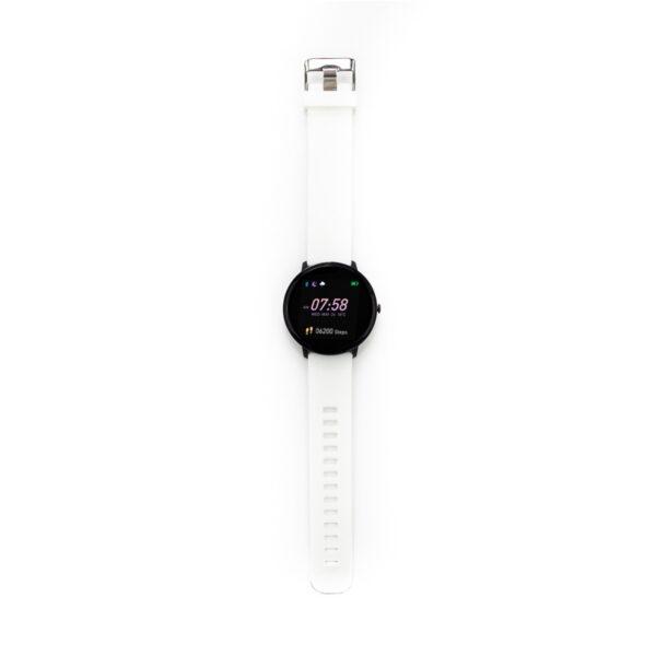 swisspro smart watch swissgo arosa esfera negra correa blanca 2