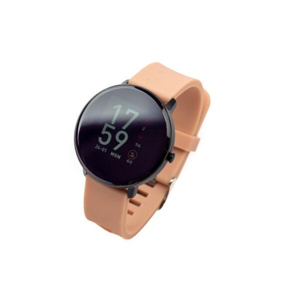 swisspro smart watch swissgo arosa esfera negra correa rosa1