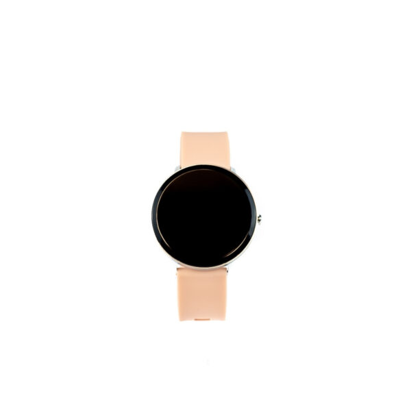 swisspro smartwatch swissgo arosa esfera plata correa rosa 2