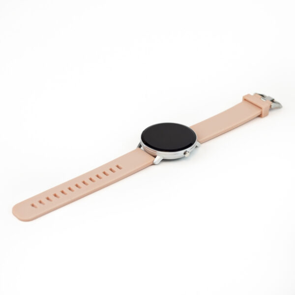 swisspro smartwatch swissgo arosa esfera plata correa rosa 3