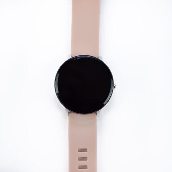 swisspro smartwatch swissgo arosa esfera plata correa rosa 4