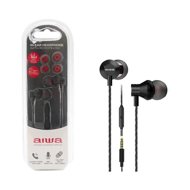 swisspro auricular in ear con microfono aiwa estm 50bk negro